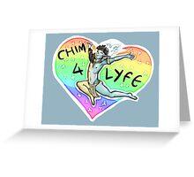 CHIM 4 LIFE - Thank u based vehk Greeting Card
