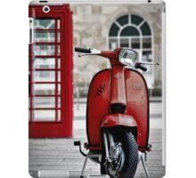 Italian Red Lambretta GP Scooter iPad Case/Skin