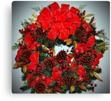 The Christmas Wreath Canvas Print