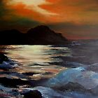 Giant causeway/Ireland/ oil painting by Jennib