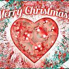 Vintage Colorful Merry Christmas Design by DFLC Prints