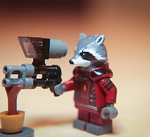 Rocket Raccoon Aims by garykaz