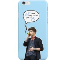 Zayn, look what you've done to me - baby blue iPhone Case/Skin
