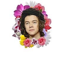 Harry Styles - Floral Photographic Print
