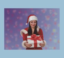Christmas girl with gift Kids Clothes