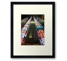 Colour Stairs  Framed Print