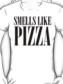 Smells Like Pizza Nirvana Parody T Shirt T-Shirt