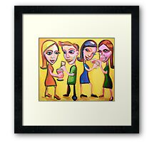The Office Do (She has hooked up!) Framed Print