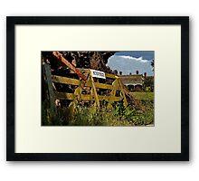 """""""Sunnyside Farm Gate"""" Framed Print"""
