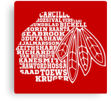 Chicago Blackhawks Team Tee Canvas Print