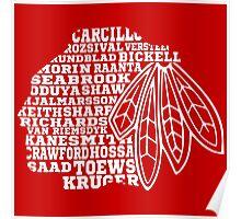 Chicago Blackhawks Team Tee Poster