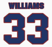 National football player Cadillac Williams jersey 33 by imsport