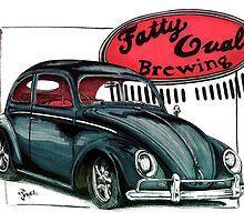 Fatty Oval Brew -Red by bulldawgdude