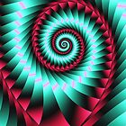 Giant Spiral in mint and pink by walstraasart