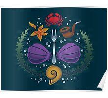Mermaid Crest Poster