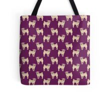 Pug dogs cute repeating pattern Tote Bag