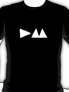 Depeche Mode : Small Logo 2013 - DM White T-Shirt