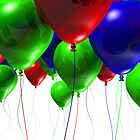 Colorful 3d Balloons by travis manley