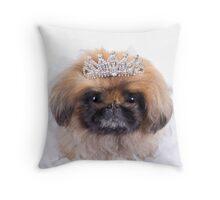 Princess Pekingese Throw Pillow
