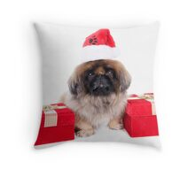 Christmas Pekingese Throw Pillow