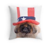 American Dog Throw Pillow