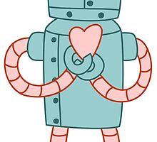 Robot Valentine by pounddesigns