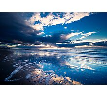 extreme sunset reflections  Photographic Print