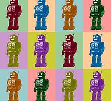 Pop Art Robots by pounddesigns
