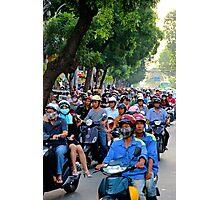 Countless Motorbikes - Ho Chi Minh City, Vietnam. Photographic Print