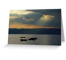 Fisherman's boats Greeting Card