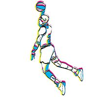 Michael Jordan retro 80's tribute artwork by danielabela