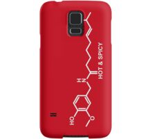 Hot and Spicy: Capsaicin Molecule Samsung Galaxy Case/Skin