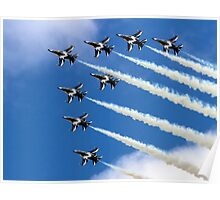 Korean Black Eagles 8-ship Chevron Poster