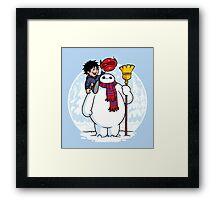 Inflatable Snowman Framed Print