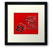 Itachi's Magenkyou Framed Print