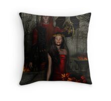 Dancing Leaves on Sleeping Branches~Samhain 2007 Throw Pillow