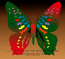 Butterfly with Bible Verse by kreativekate