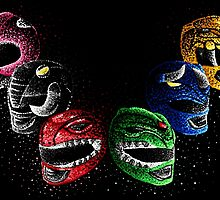 Mighty Morphin Power Rangers by jellysoupstudio