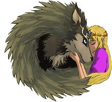 Zelda and Wolf Link by 1163
