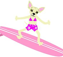 Chihuahua Surfer Girl by pounddesigns