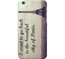 Back to the City of Paris iPhone Case/Skin
