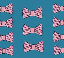 Retro pink bow tie by bardenne