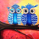 Sunset Owls by Kristy Spring-Brown