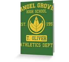 Angel Grove H.S. (Green Ranger Edition) Greeting Card