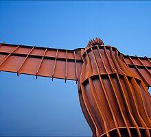 Angel on blue by PaulBradley