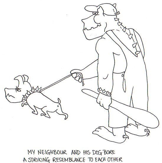 My neighbour and his dog bore a striking resemblance to each other by Jean  Burke
