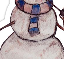 Smoking Steampunk Snowman Sticker