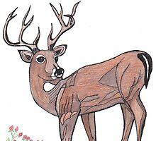 The deer by medlinart