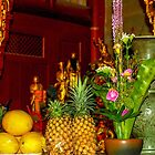 Offerings to Buddha and monks, Taiwan by indiafrank