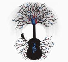 Rhythms of the Heart - ( surreal guitar tree art ) T-Shirt